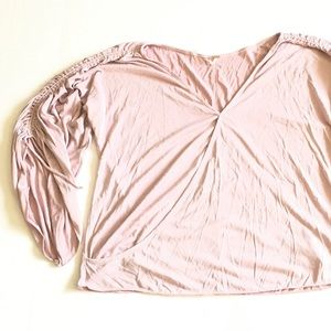 FREE PEOPLE Surplice Laced Bell Sleeve Top Size Xs
